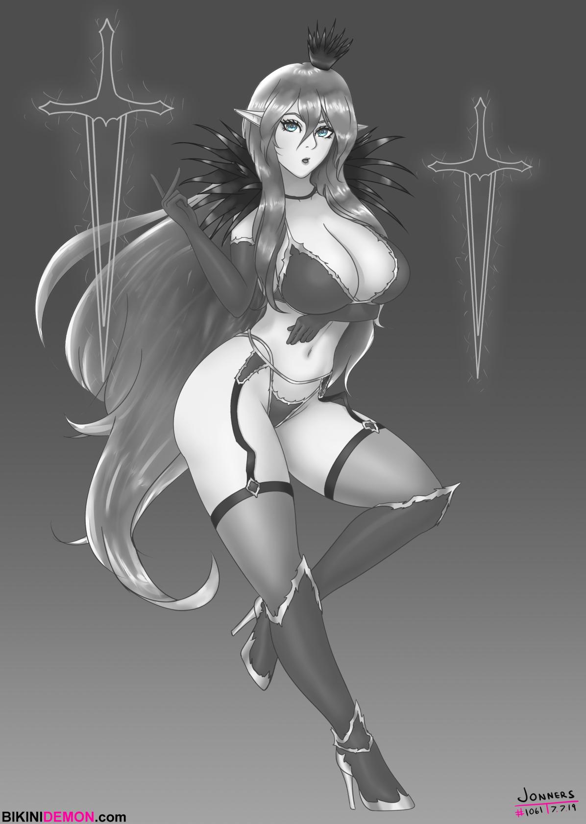 elfy sword witch_bw