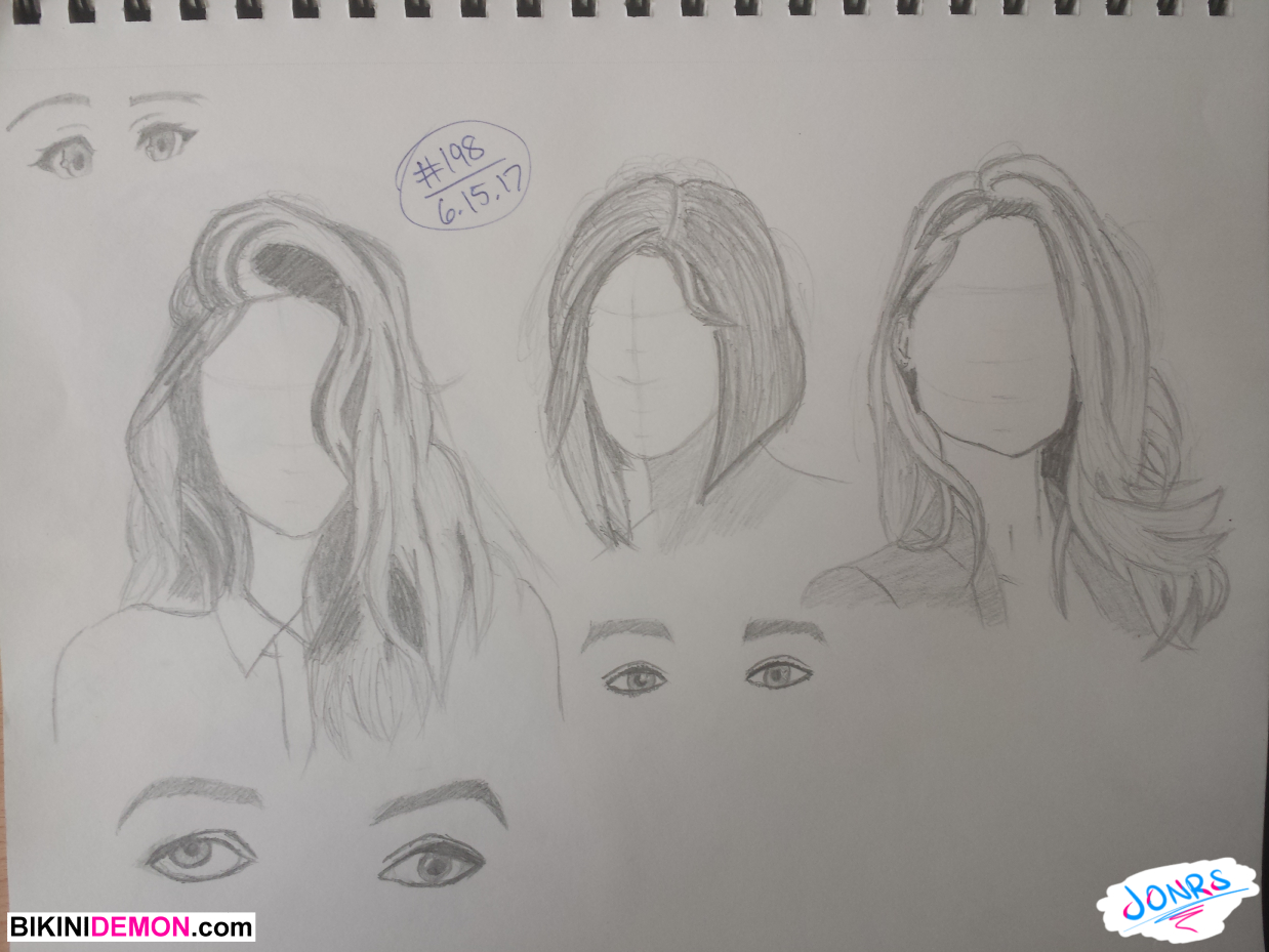 2017 sketch 7 – hair studies