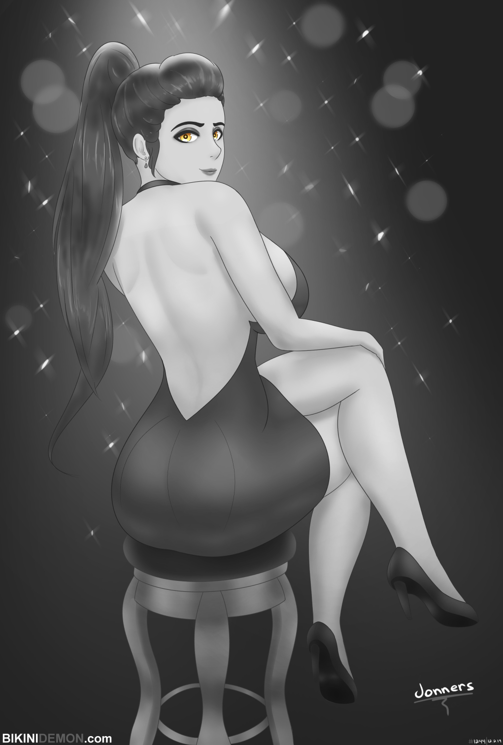 fancy widow_bw